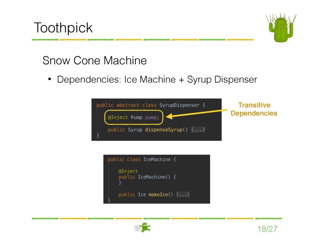 Toothpick Snow Cone Machine • Dependencies: Ice...