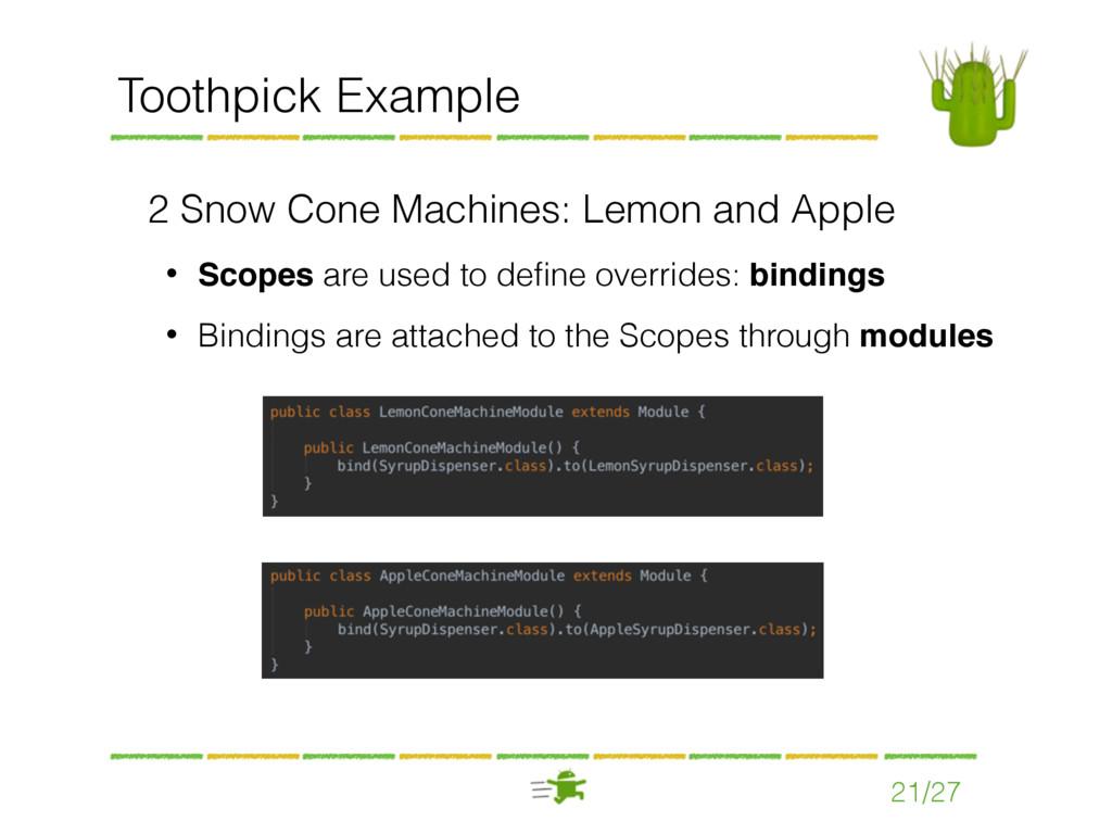 21/27 Toothpick Example 2 Snow Cone Machines: L...