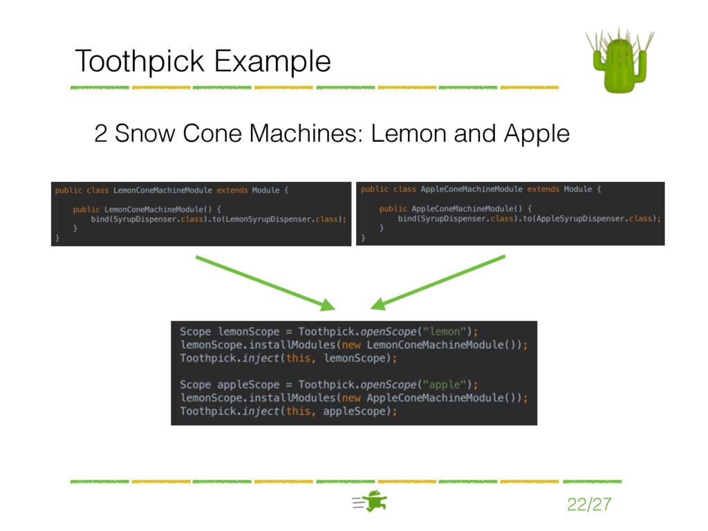 22/27 Toothpick Example 2 Snow Cone Machines: L...