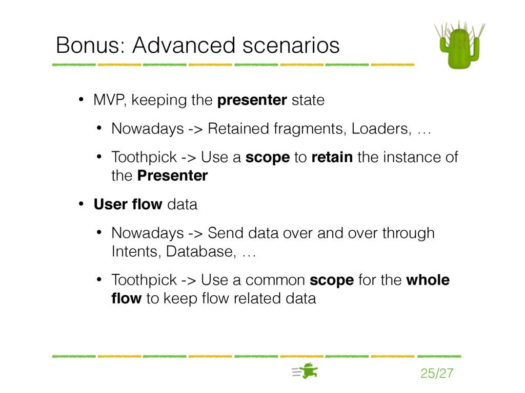 25/27 Bonus: Advanced scenarios • MVP, keeping ...