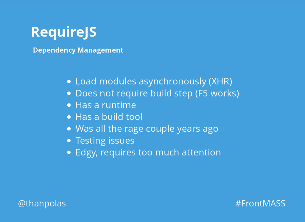 RequireJS RequireJS Dependency Management Depen...