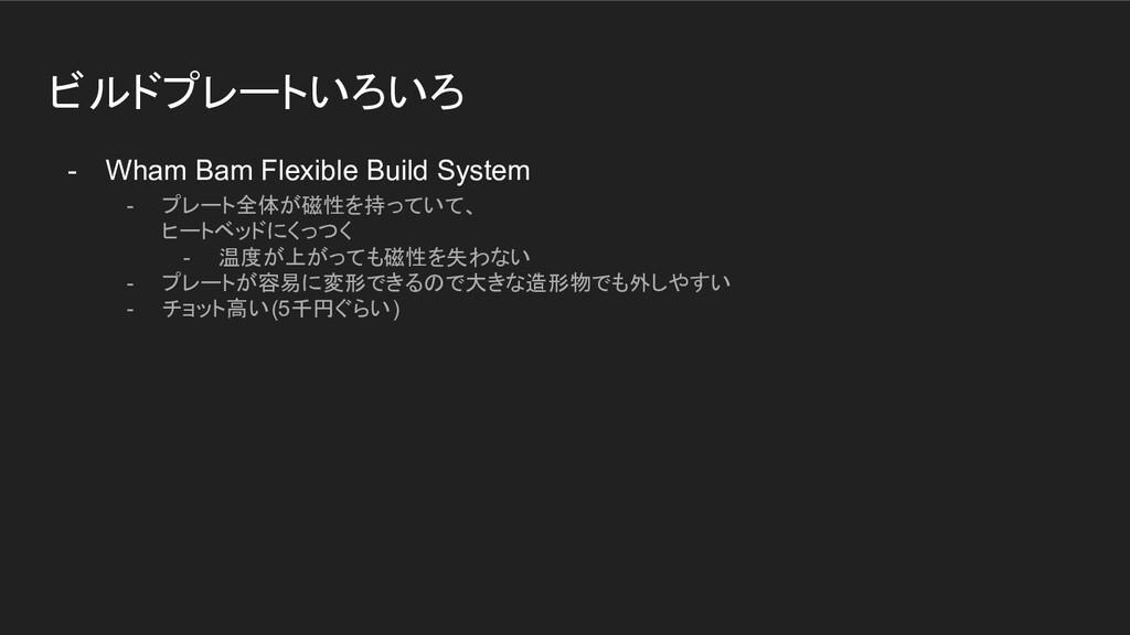 ビルドプレートいろいろ - Wham Bam Flexible Build System - ...