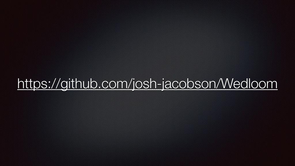 https://github.com/josh-jacobson/Wedloom