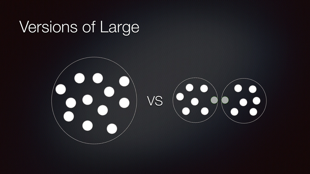 Versions of Large VS