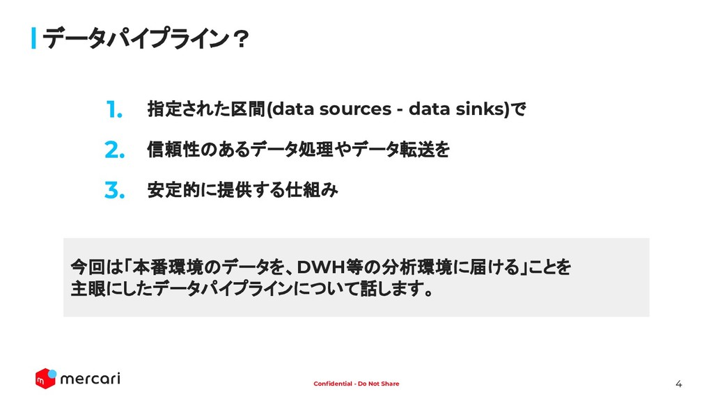 4 Confidential - Do Not Share 指定された区間(data sourc...
