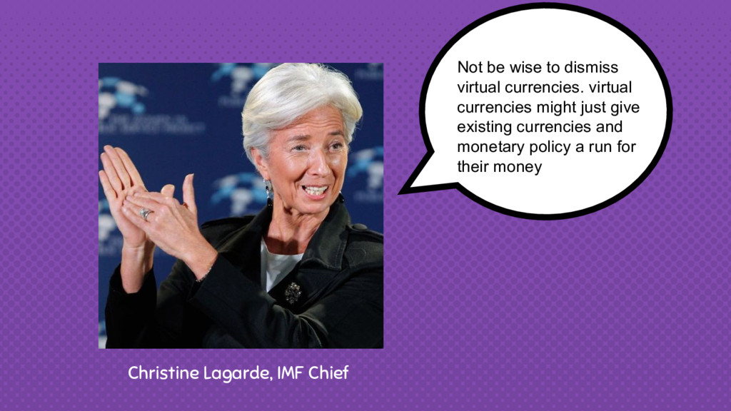 Christine Lagarde, IMF Chief Not be wise to dis...