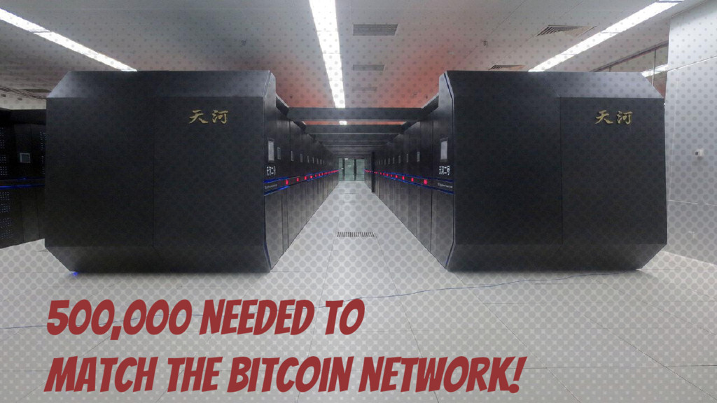 500,000 Needed to match the Bitcoin network!