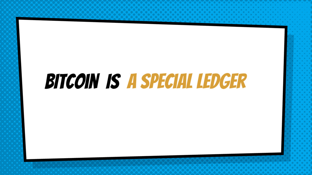 a special ledger BItcoin IS