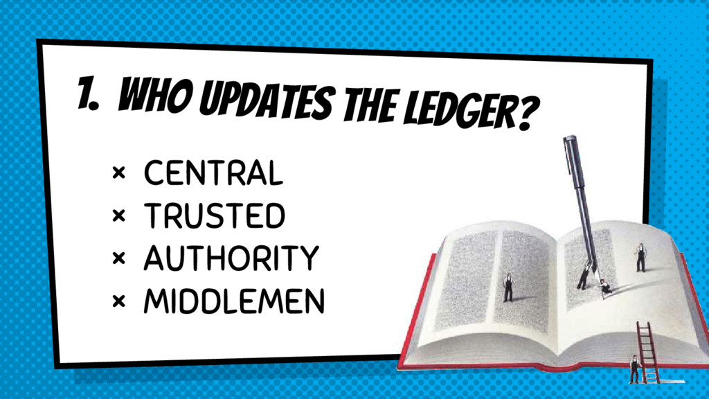 1. Who updates the ledger? × CENTRAL × TRUSTED ...