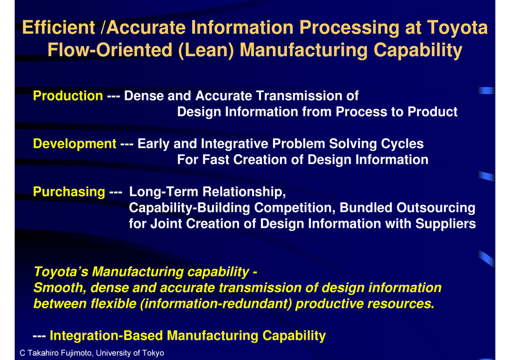 Efficient /Accurate Information Processing at T...