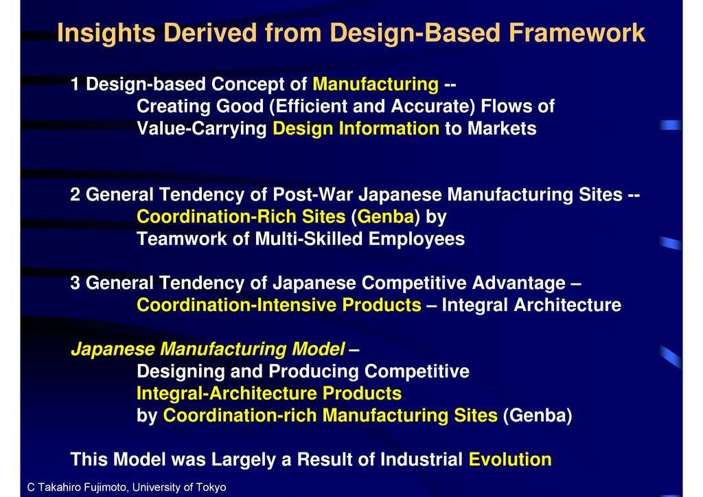 Insights Derived from Design-Based Framework 1 ...