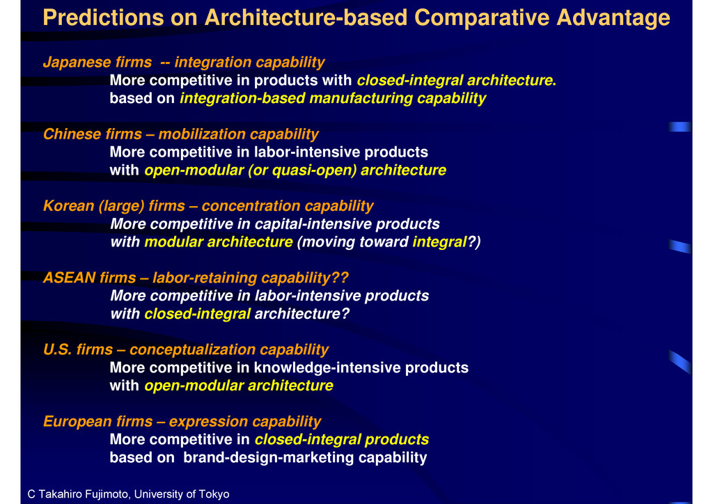 Predictions on Architecture-based Comparative A...