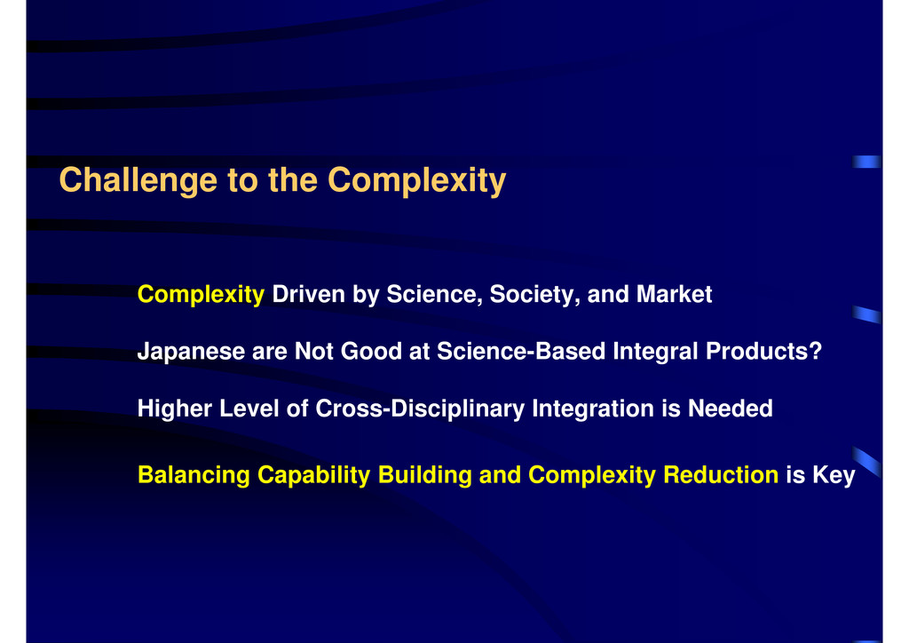 Challenge to the Complexity Complexity Driven b...