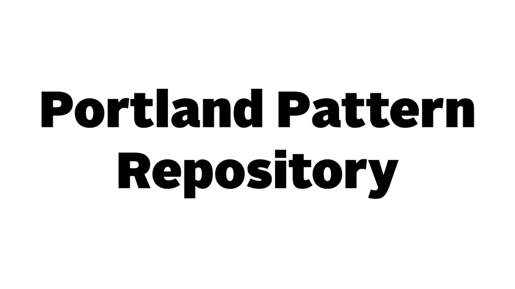 Portland Pattern Repository