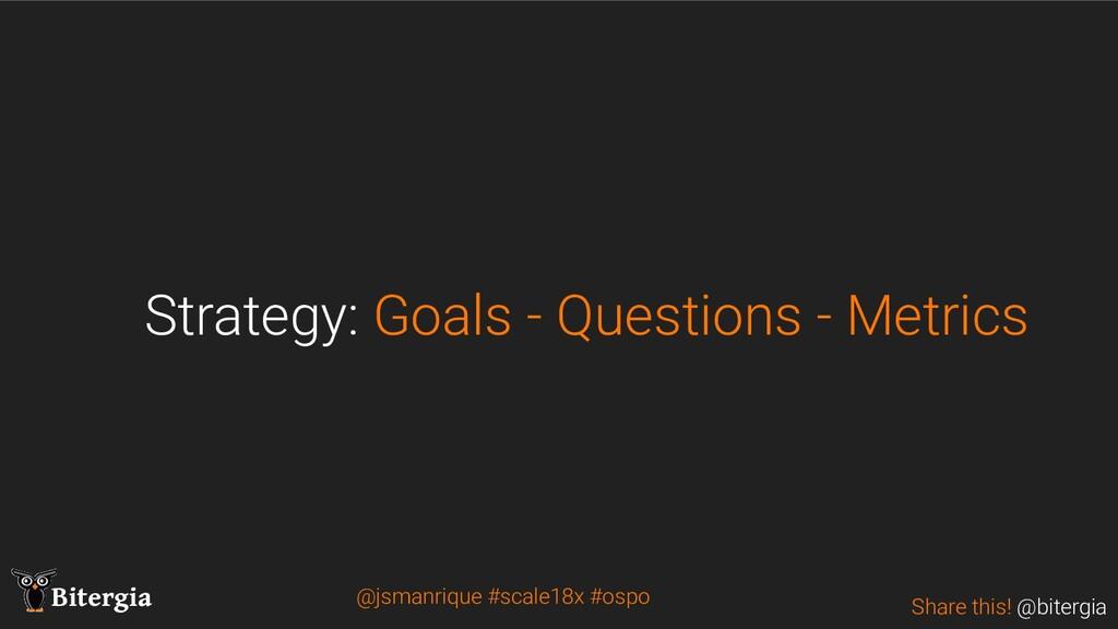 Share this! @bitergia Bitergia Strategy: Goals ...