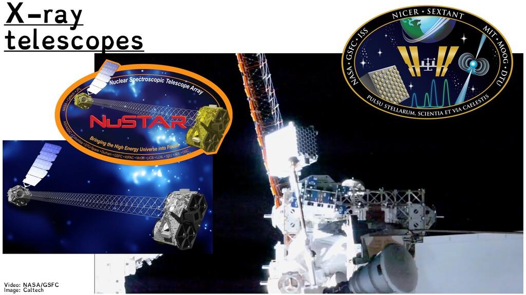 Video: NASA/GSFC Image: Caltech X-ray telescopes