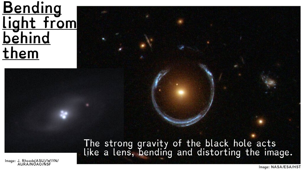 Image: NASA/ESA/HST Bending light from behind t...