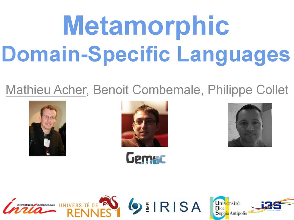 Metamorphic Domain-Specific Languages   Math...