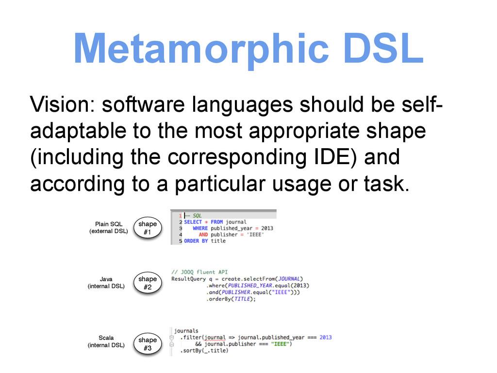 Metamorphic DSL Vision: software languages shou...