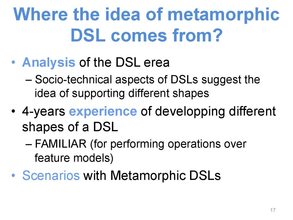 • Analysis of the DSL erea –Socio-technical a...