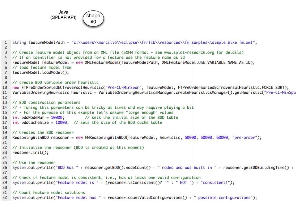shape #0 Java (SPLAR API)