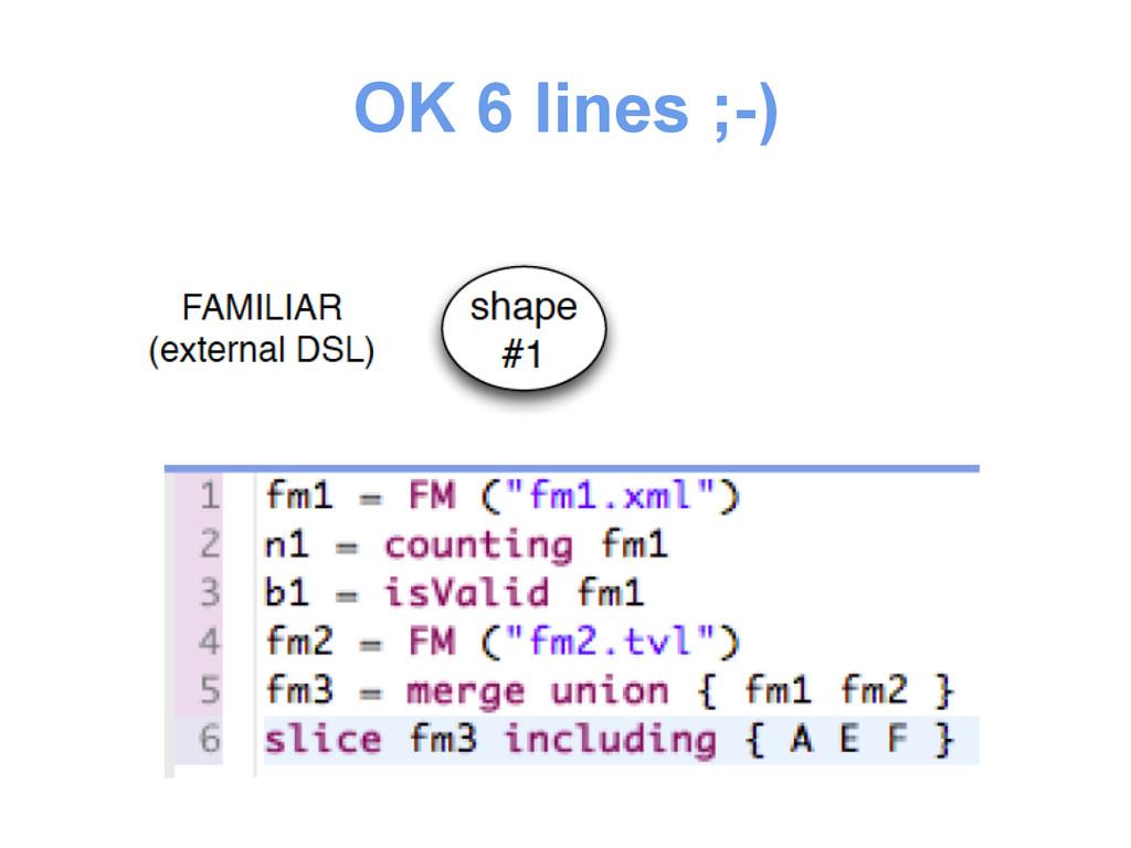 OK 6 lines ;-)