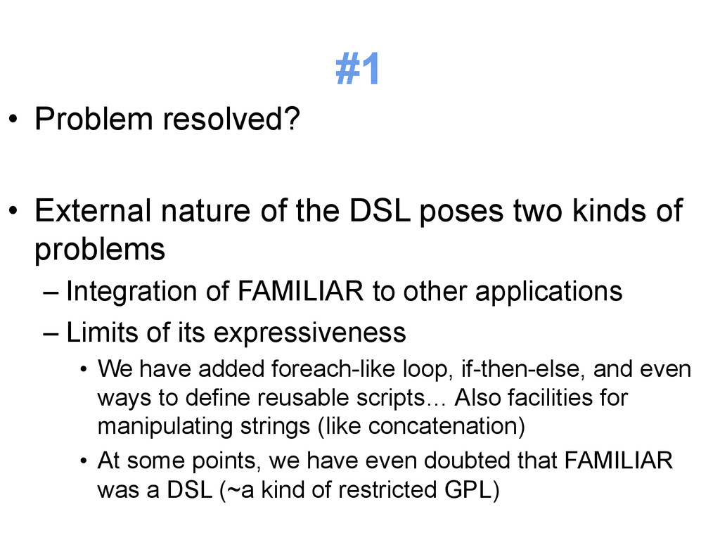 #1 • Problem resolved? • External nature of t...