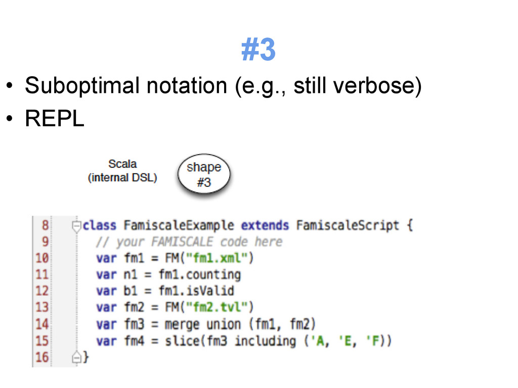 #3 • Suboptimal notation (e.g., still verbose)...
