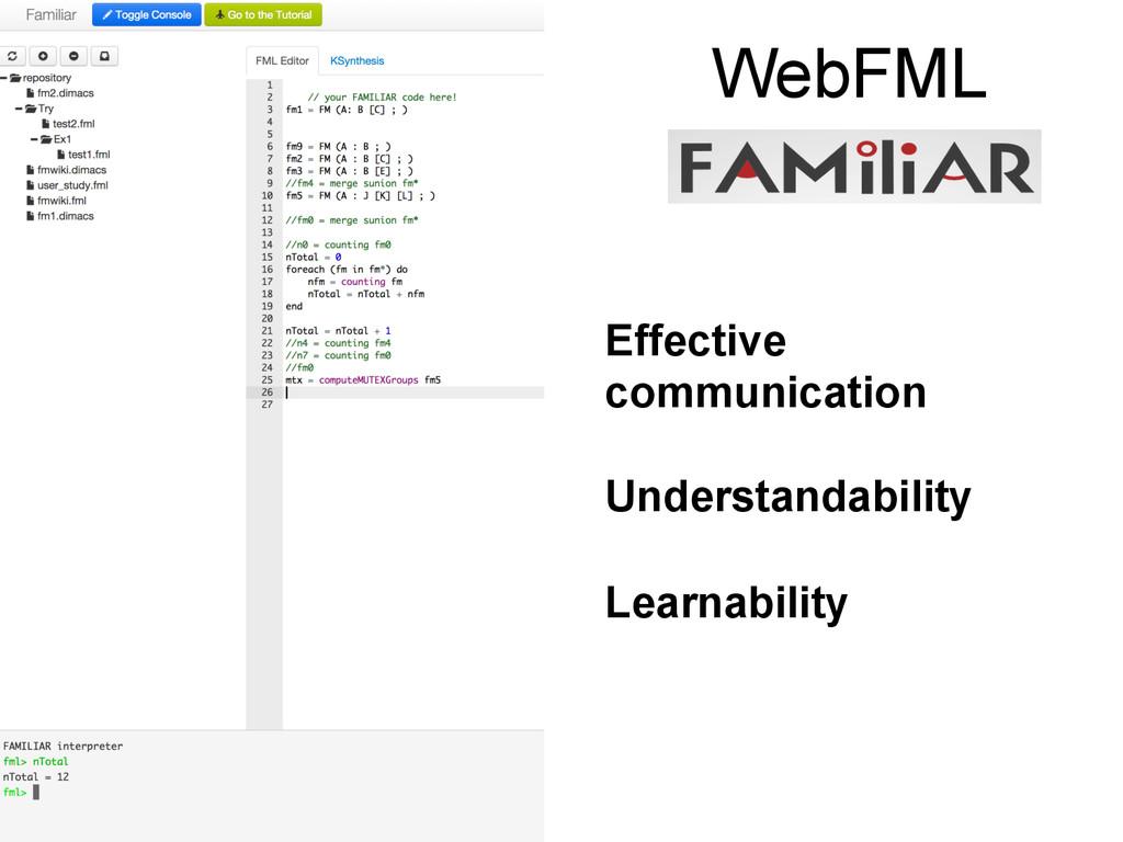 WebFML Effective communication Understandabilit...