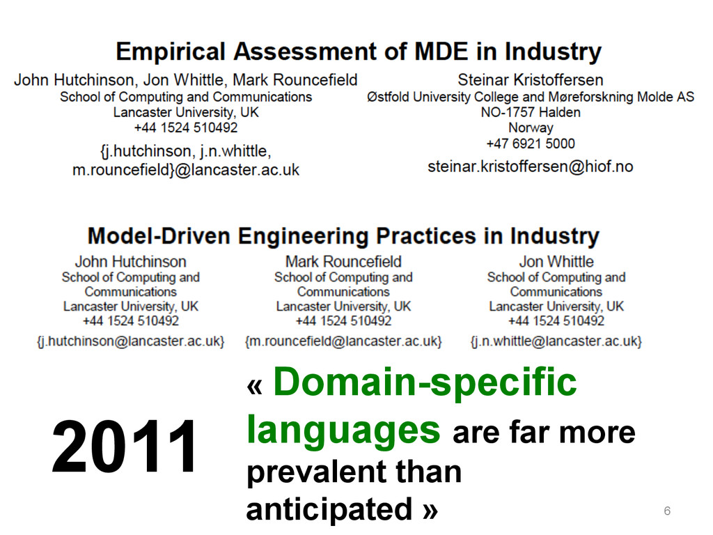 6 2011 « Domain-specific languages are far more...