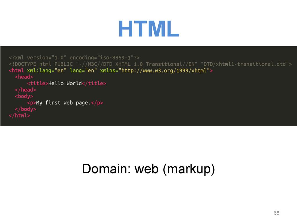 HTML Domain: web (markup) 68