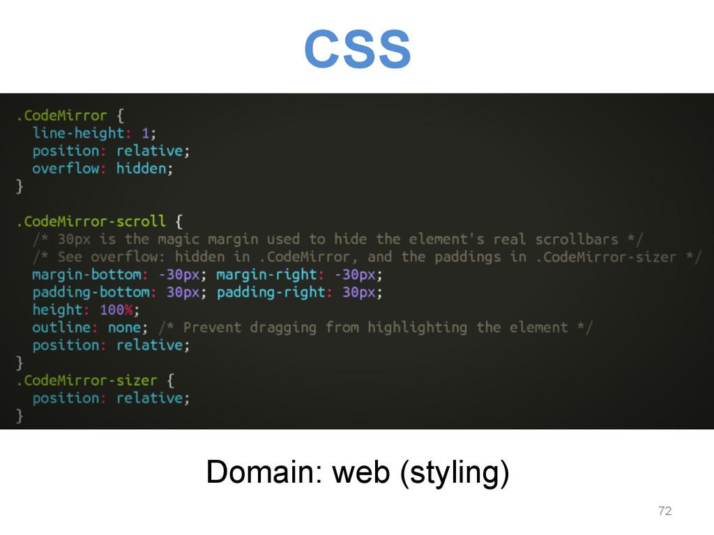 CSS Domain: web (styling) 72