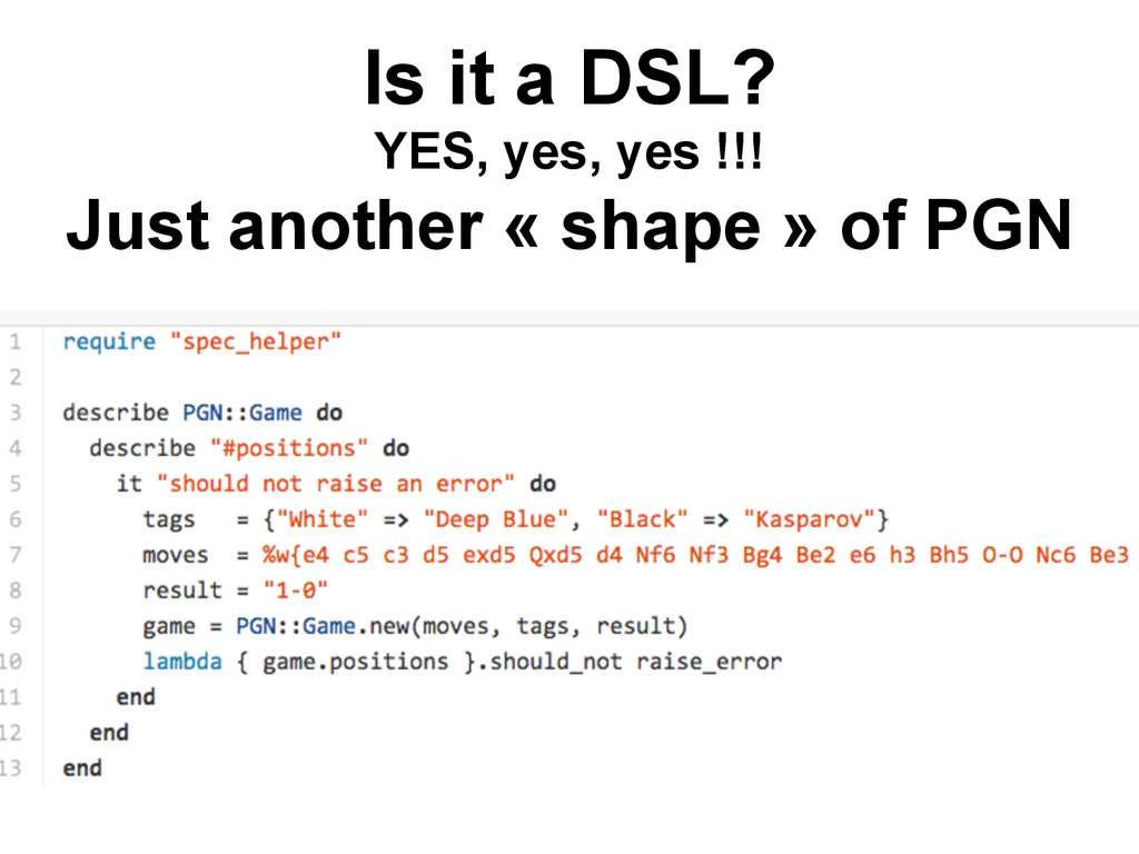 Is it a DSL? YES, yes, yes !!! Just another « s...
