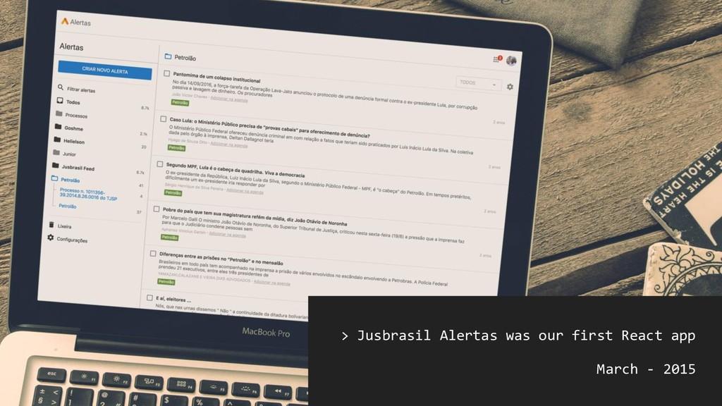 [photo @ jusbrasil] > Jusbrasil Alertas was our...