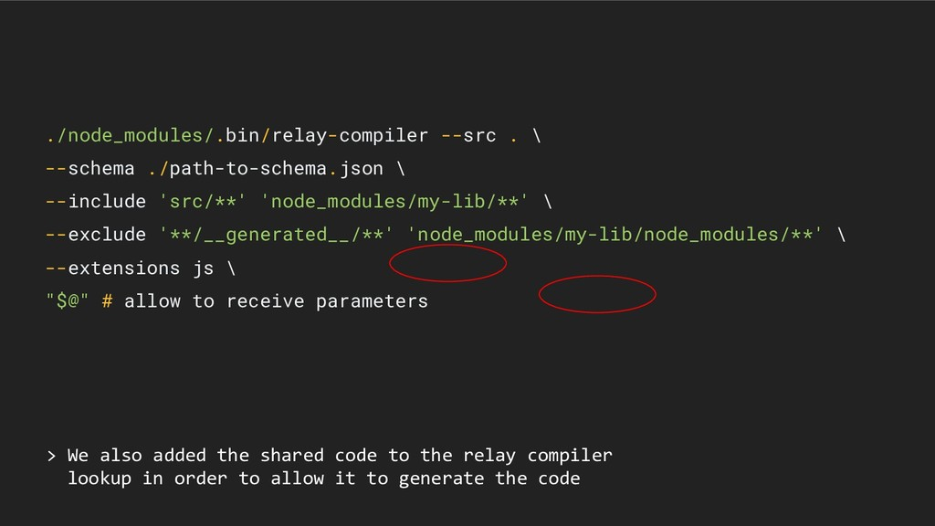 > We also added the shared code to the relay co...