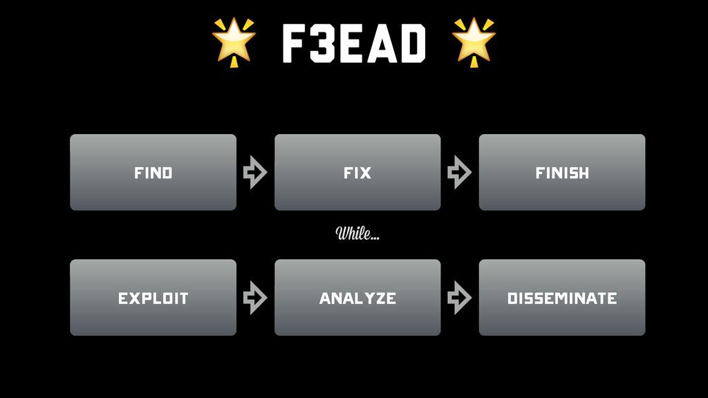 F3EAD  Find Analyze Disseminate Exploit Finish...