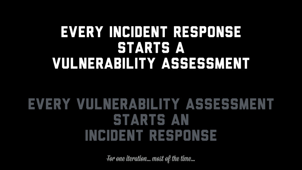 Every Incident Response Starts a Vulnerability ...