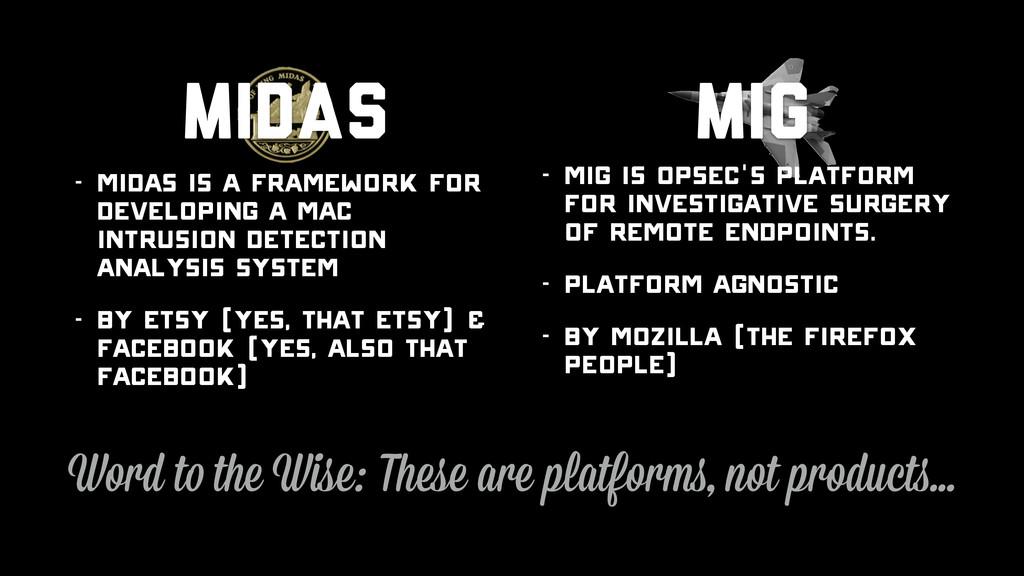 - MIG is OpSec's platform for investigative sur...