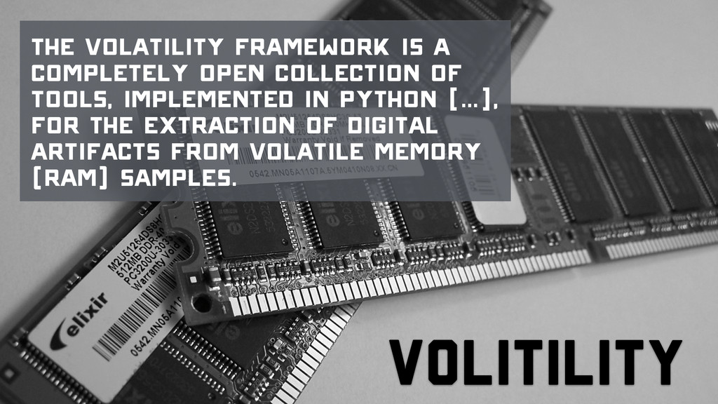Volitility The Volatility Framework is a comple...