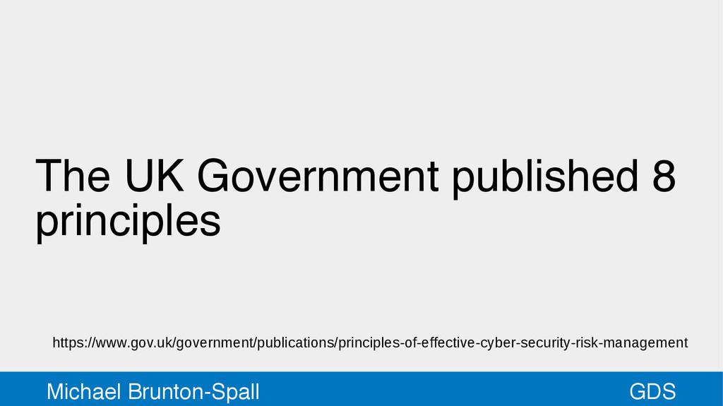 GDS Michael Brunton-Spall The UK Government pub...