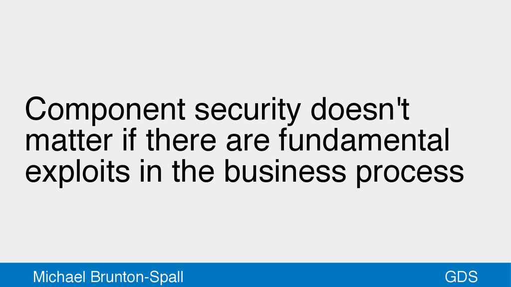 GDS Michael Brunton-Spall Component security do...