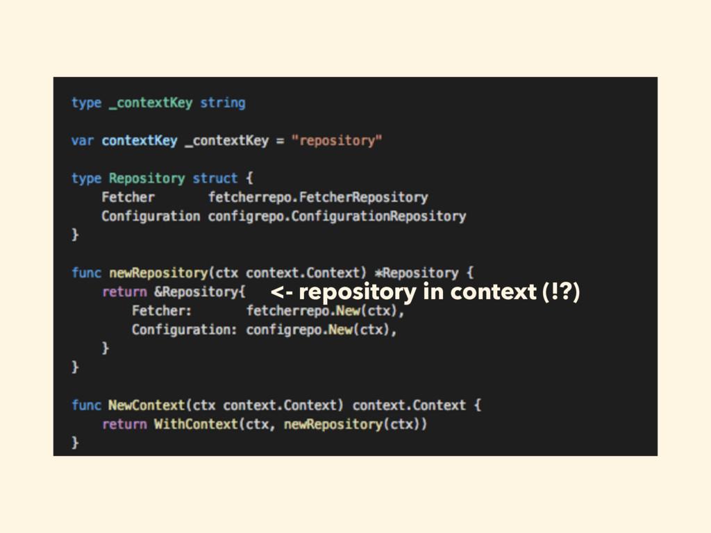 ͍ͭ͜Λݟͯ͘ΕɺͲ͏ࢥ͏ʁ <- repository in context (!?)