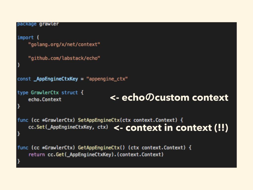 <- echoͷcustom context <- context in context (!...