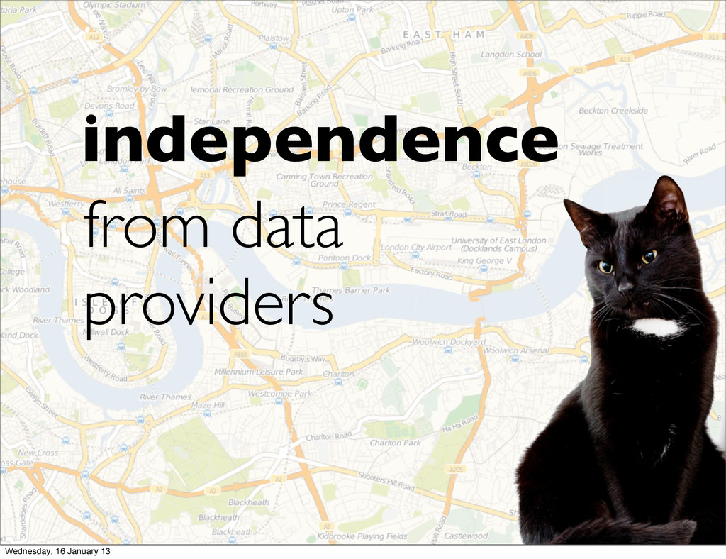 independence from data providers Wednesday, 16 ...