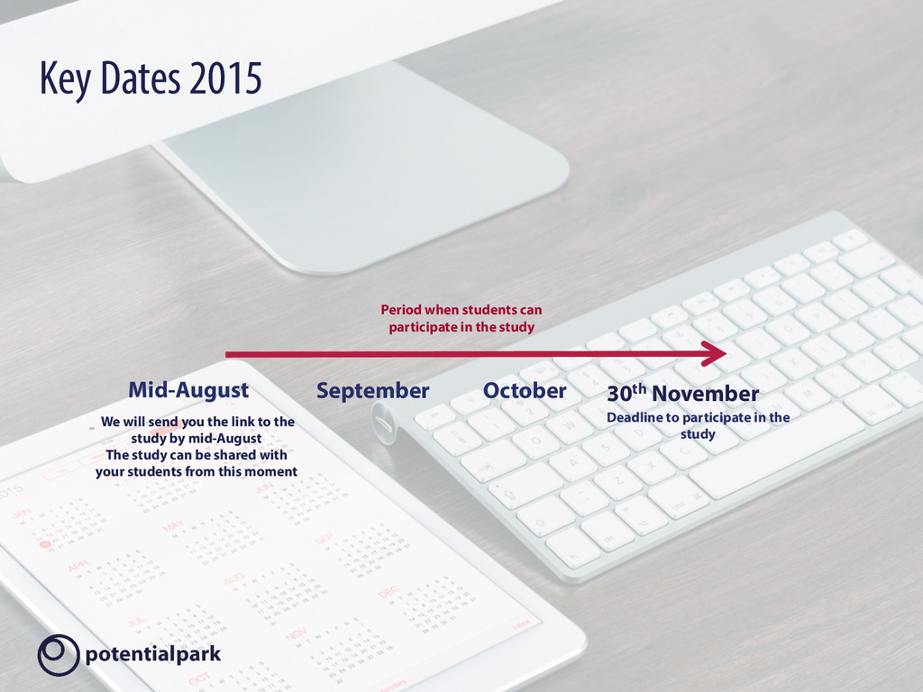 Key Dates 2015 Mid-August 30th November We will...