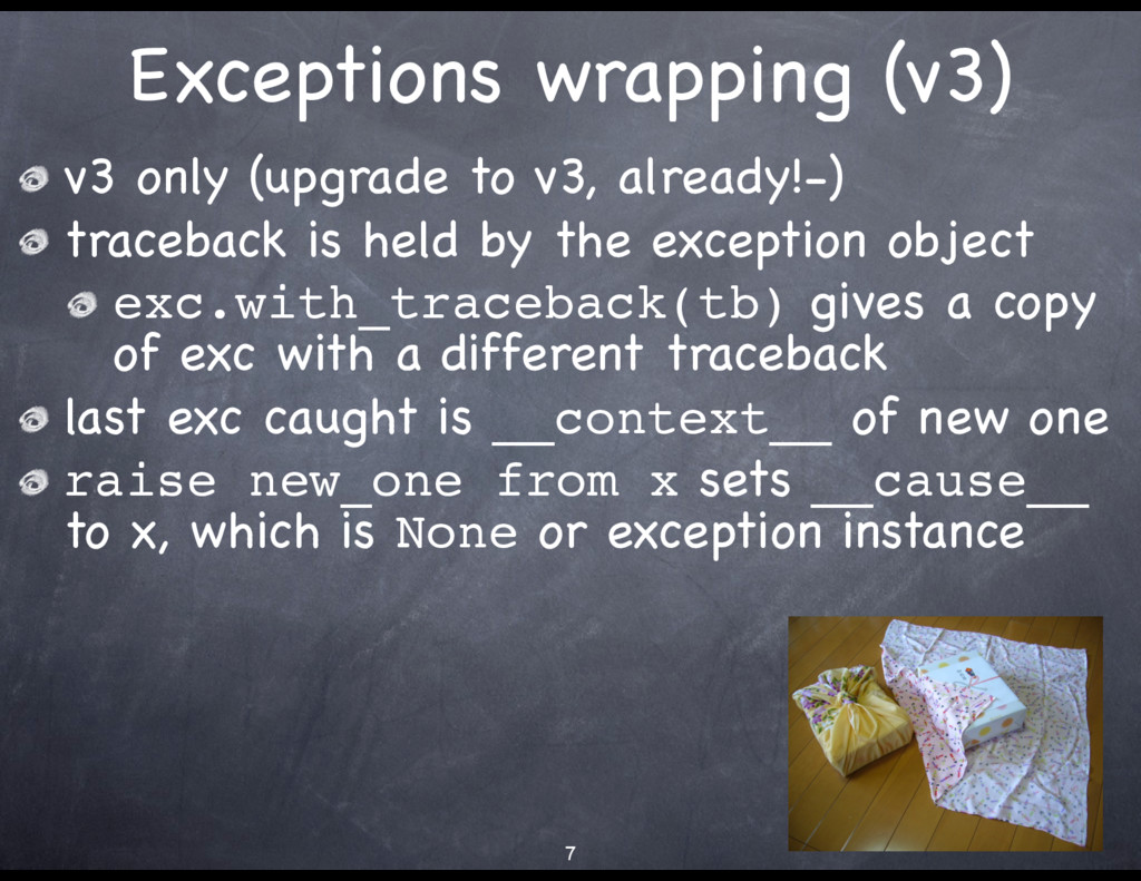 Exceptions wrapping (v3) v3 only (upgrade to v3...