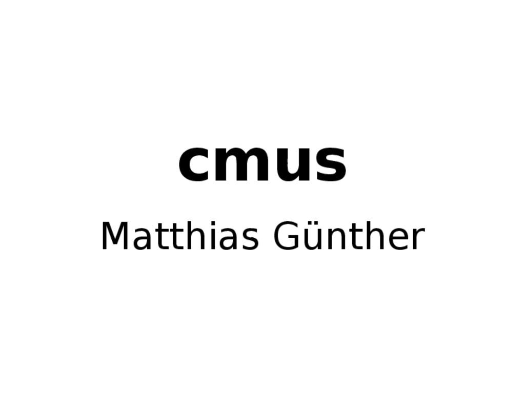 cmus Matthias Günther