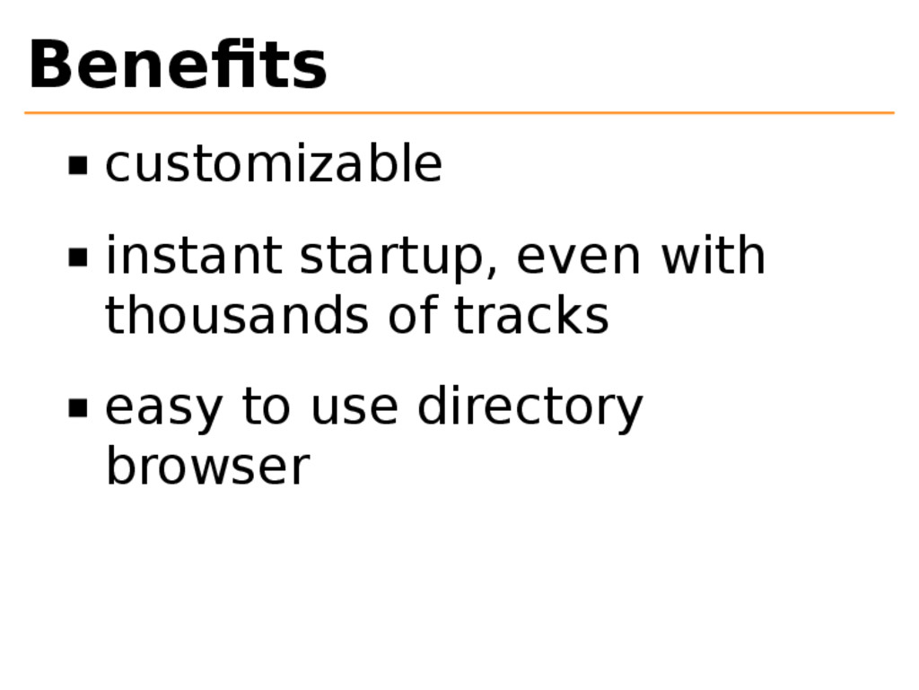 Benefits customizable instant startup, even with...