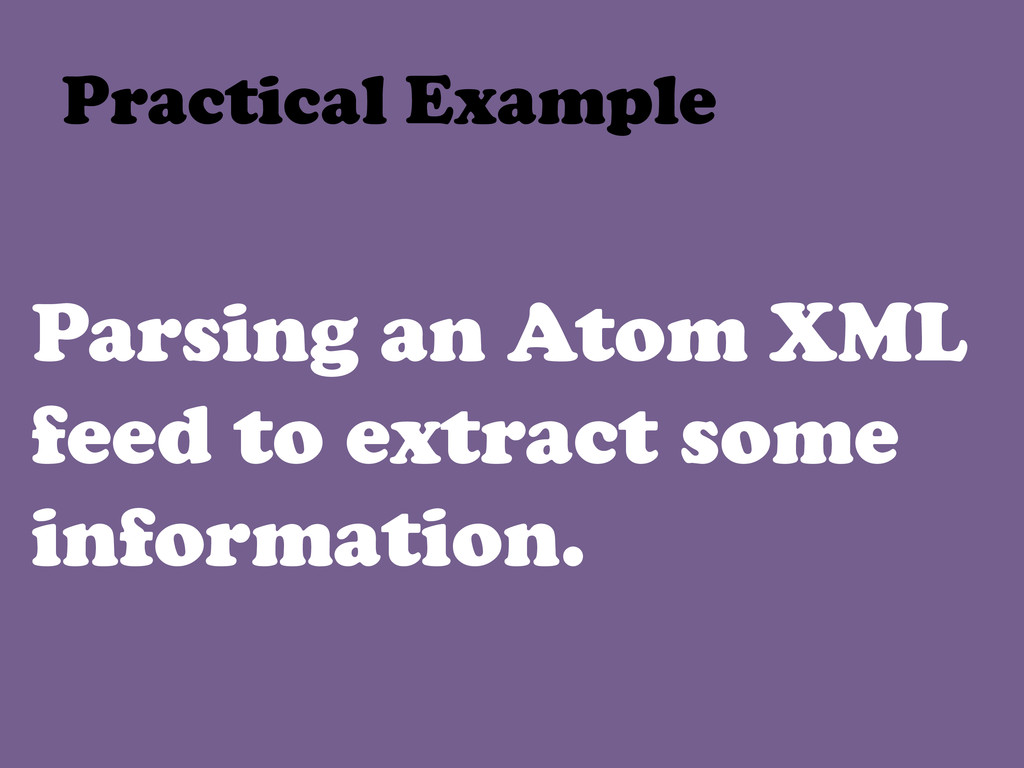 Parsing an Atom XML feed to extract some inform...
