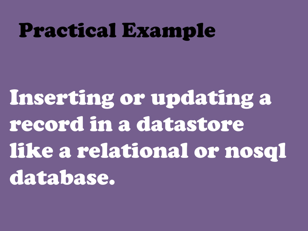 Inserting or updating a record in a datastore l...